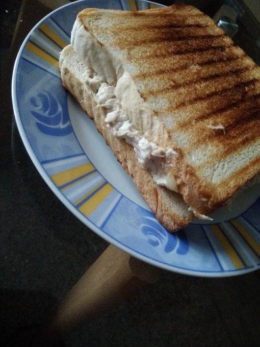 Thunfisch-Pfannensandwichs